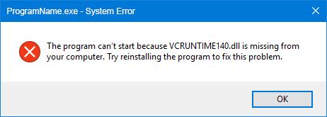 Lỗi VCRUNTIME140.dll nỗi đau không nguôi :((